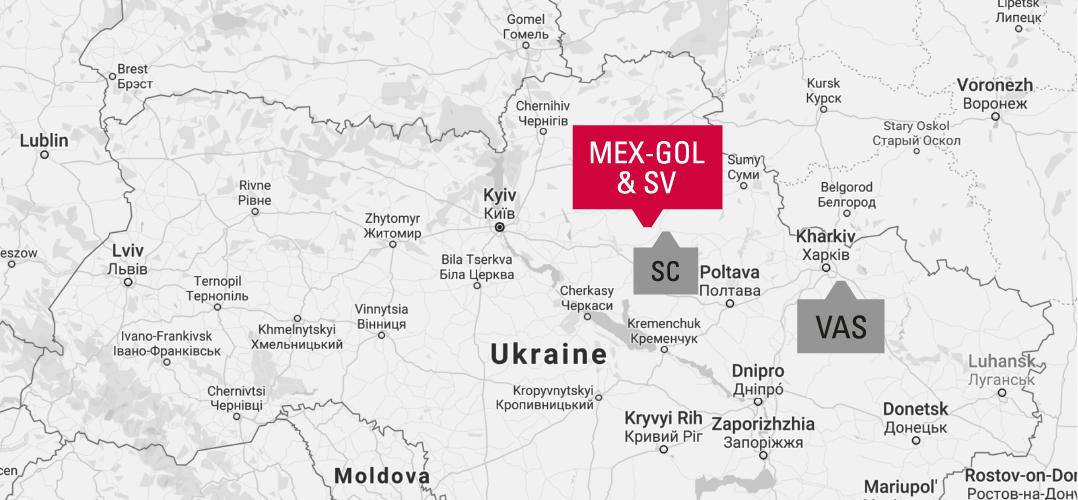 MEX-GOL & SV Field Location Map